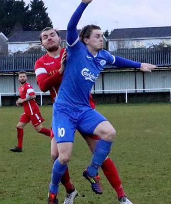 Two goal Luke Wells