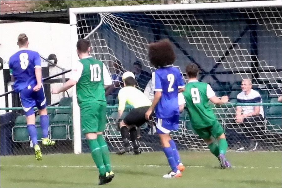 Sim Armstrong (10) scores the winner