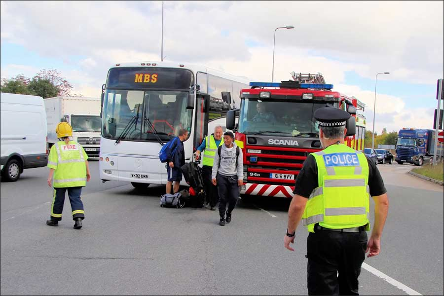 Emergency services helped to protect the Jets coach