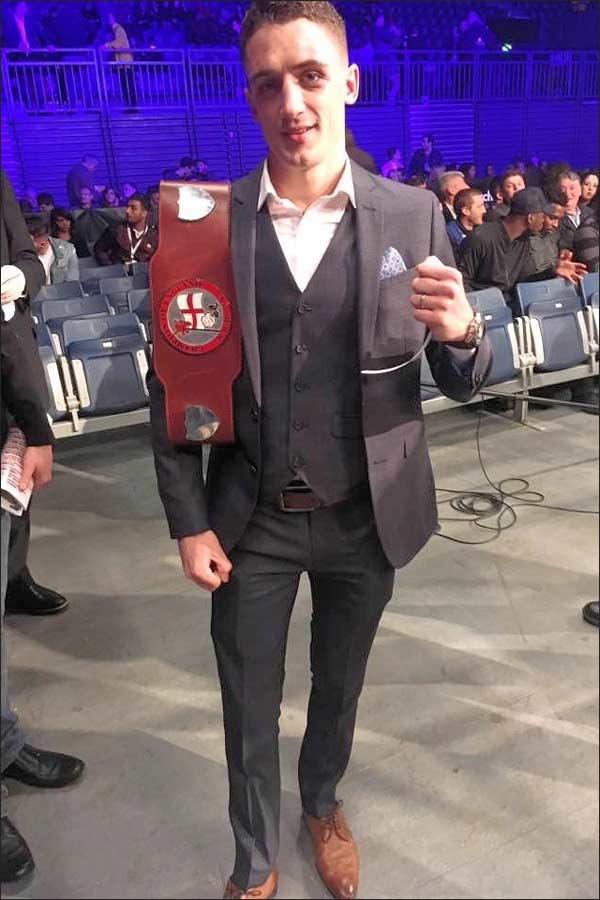 "The new English featherweight Champion, ""Bomber' Bellotti"