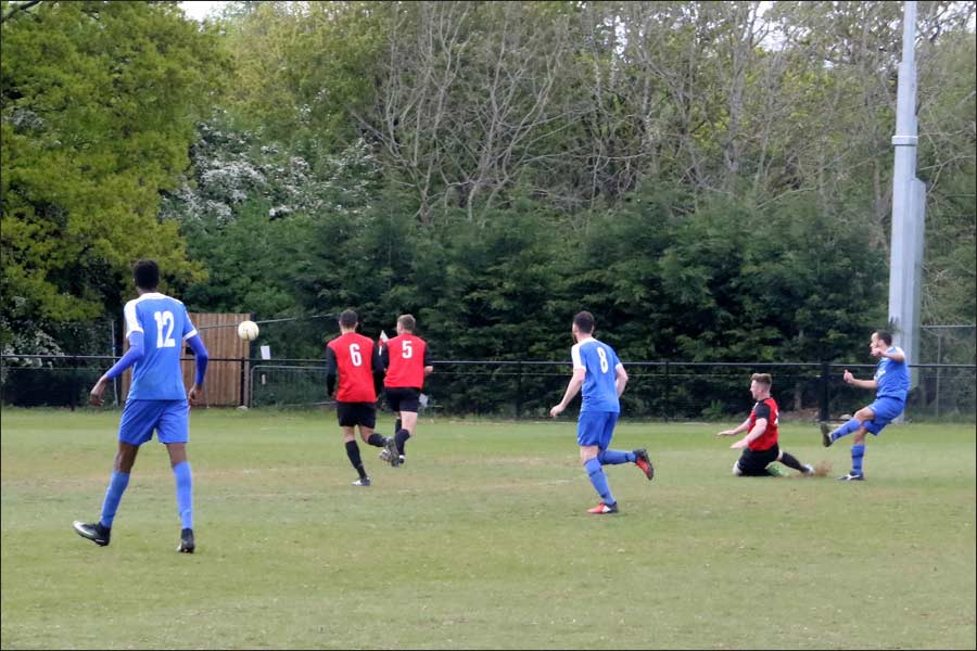 Chris shows he is a natural goalscorer, striking his second to give Jets the lead