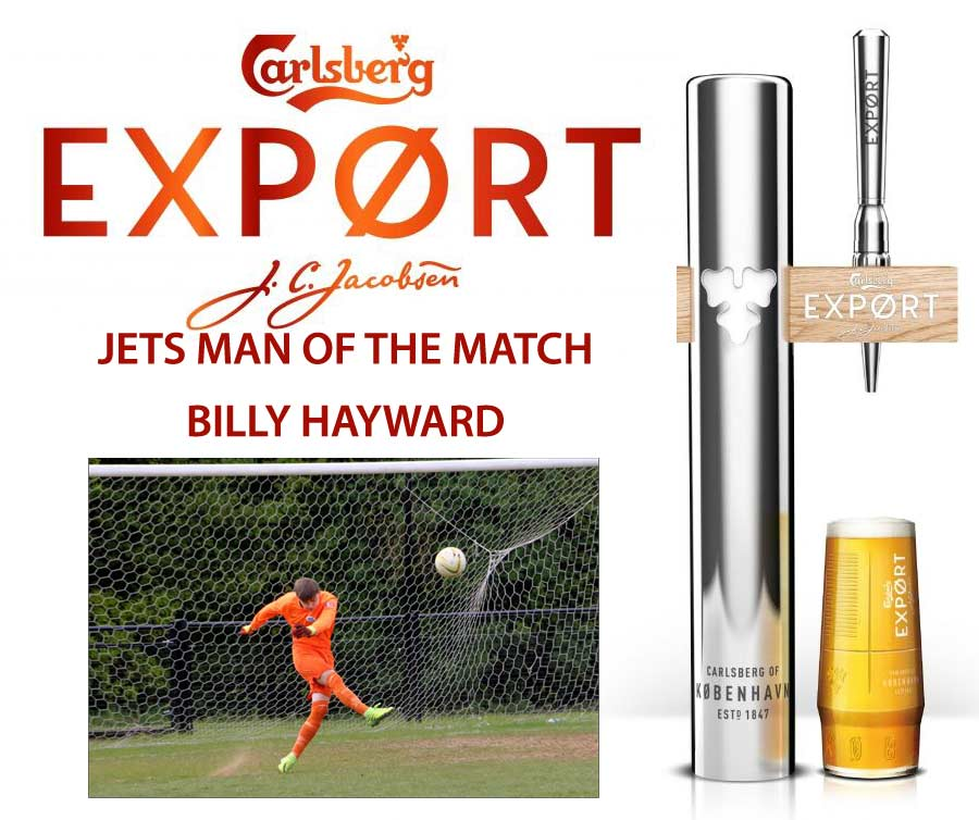 JETS MAN OF THE MATCH BILLY HAYWARD