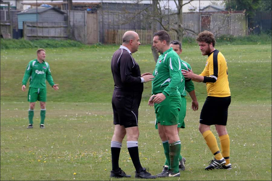 An unusual sight - JD getting told off