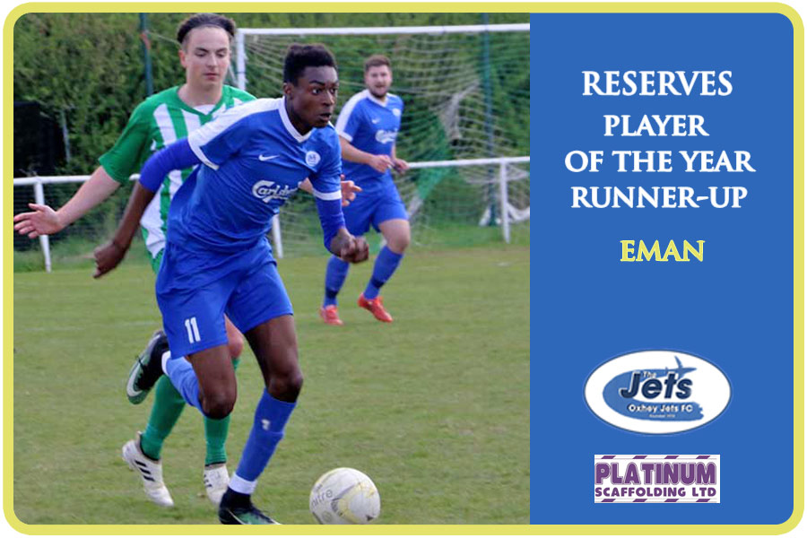 Reserves player of the year runner-up