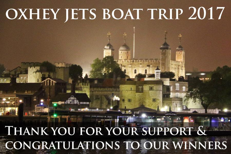 oxhey jets boat trip awards night 2017