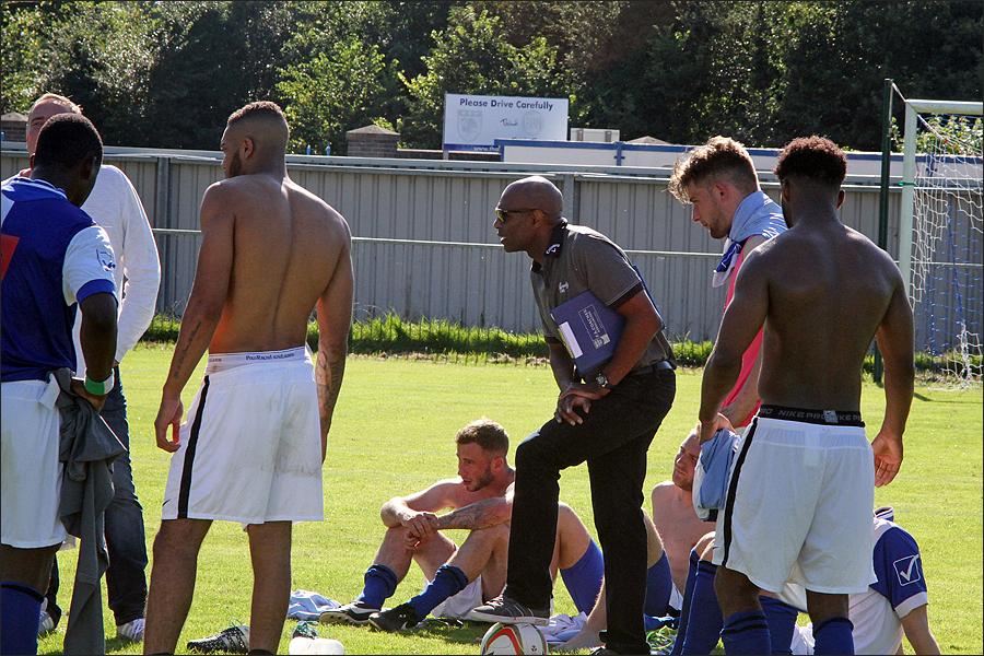 Watford legend Luther Blissett coaching a rebuilding Burnham team