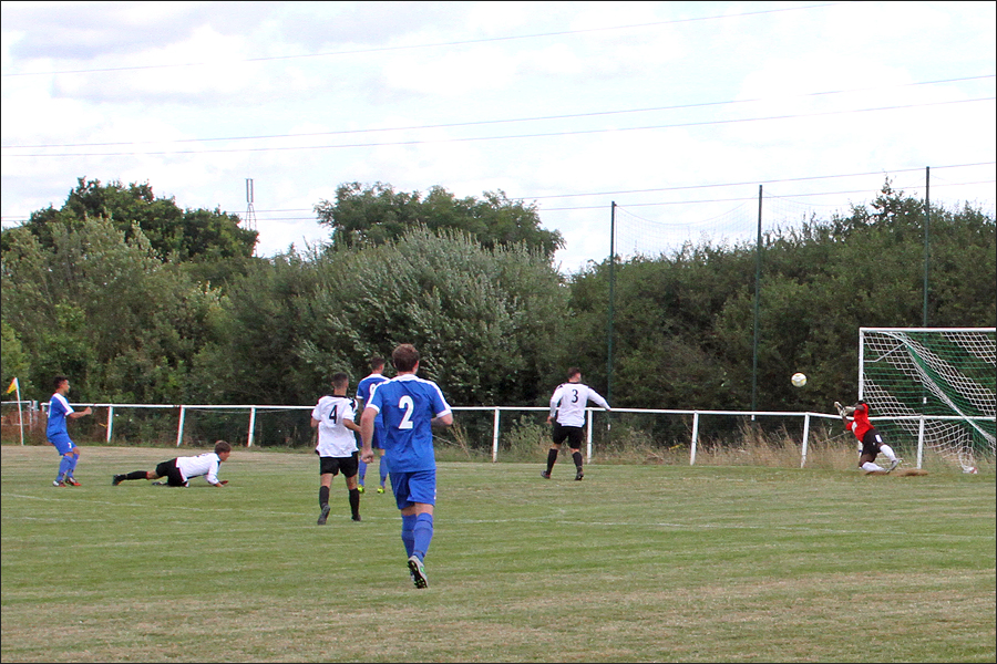 Josh Noyes fires Jets back in front 3-2 just two minutes after Colney had pulled level