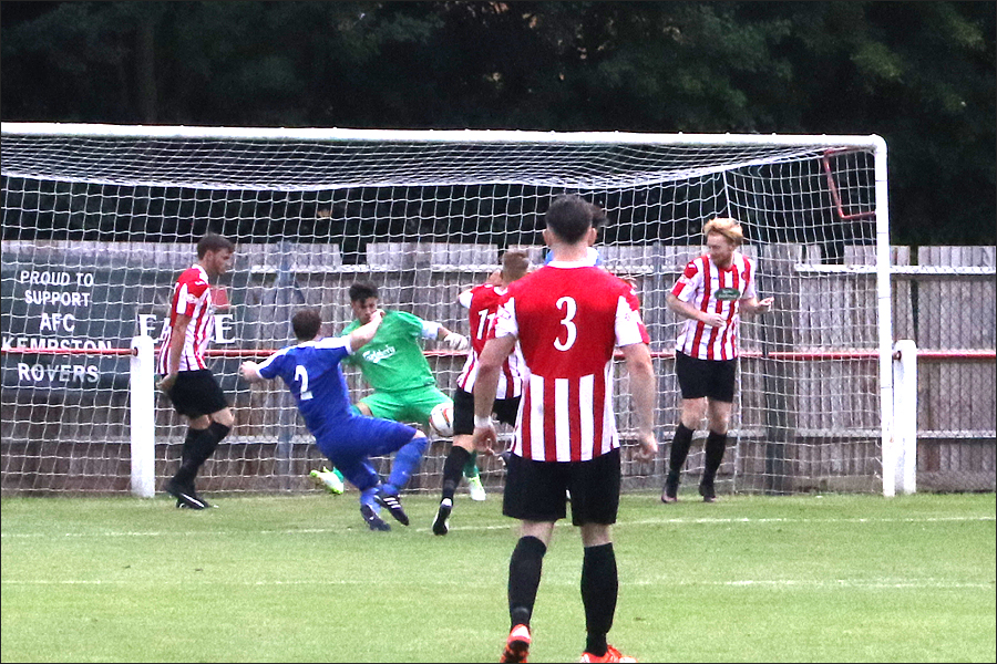A momentary defensive lapse and Kempston got their goal