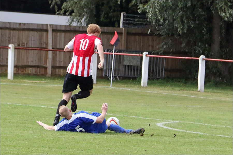Perfect tackle from Ben Collins