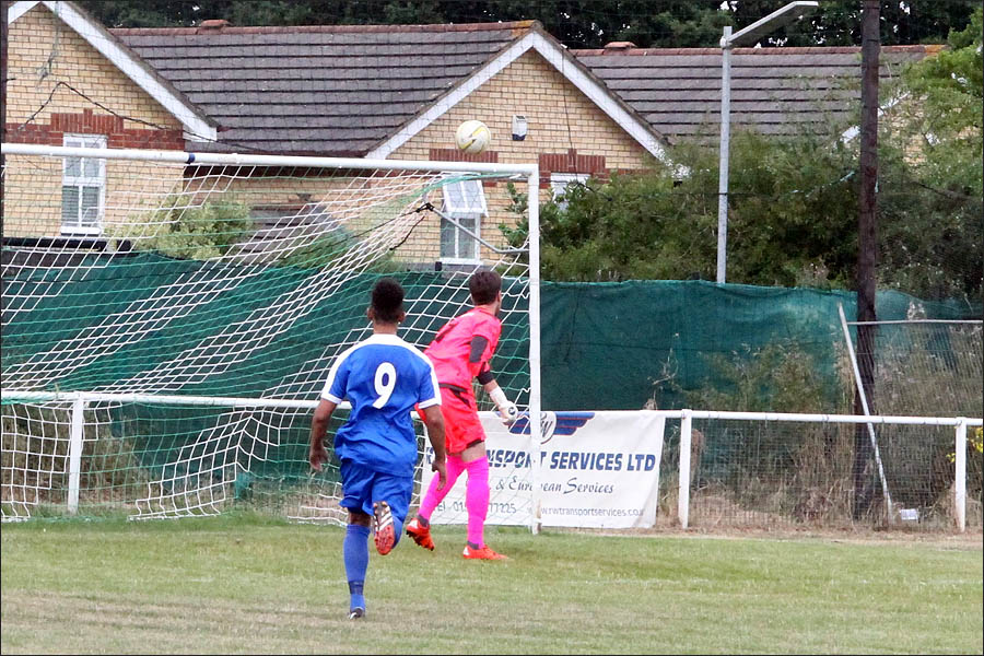 Tom's 30 yarder heads for the net