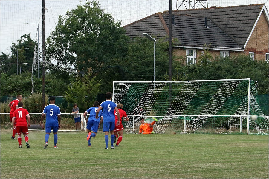 Colney level it from the penalty spot