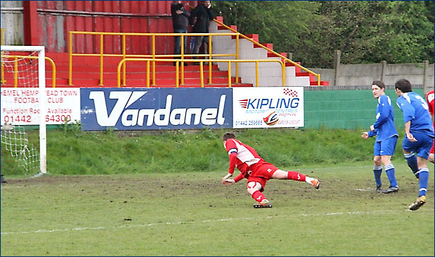 Andy Lomas drives in the decisive late goal