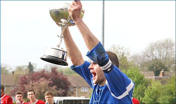 Captain Fantastic Ian Bywater lifts the St Marys Cup
