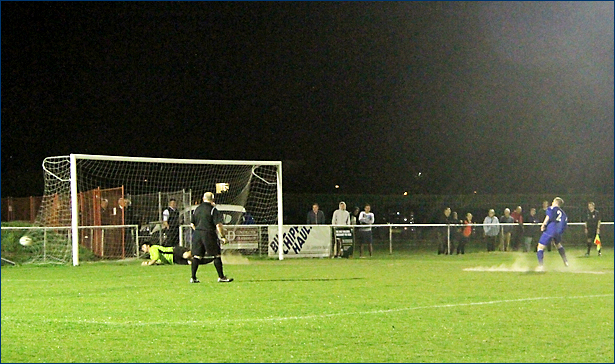 Ben Poulton strikes the winning penalty