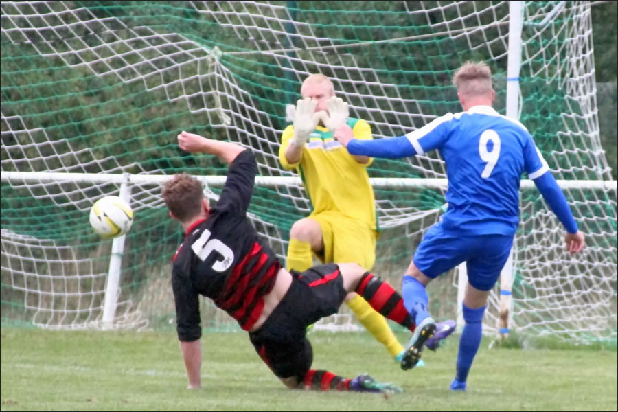 Lee Armitt denied with the score 1-2
