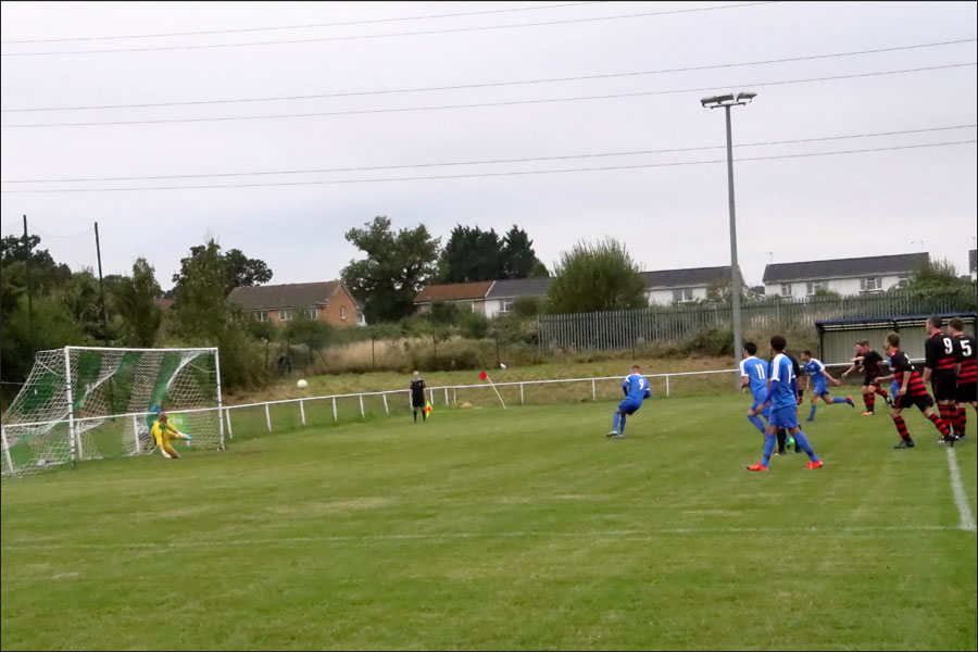 Lee Armitt levels it at 2-2 from the penalty spot