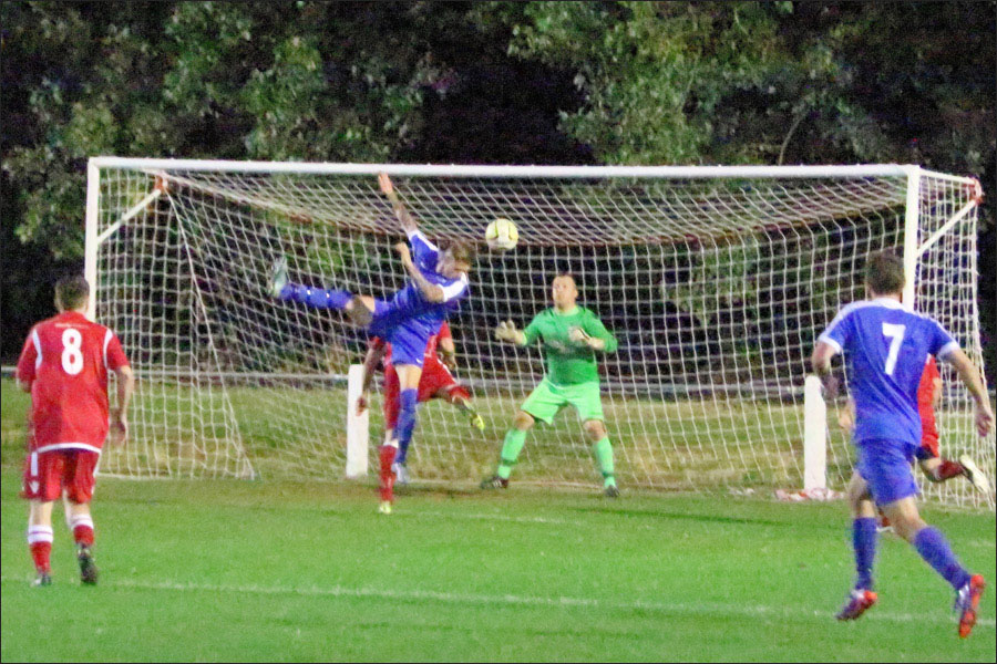 Lee Armitt was out of luck tonight, and the Baldock keeper had a superb game