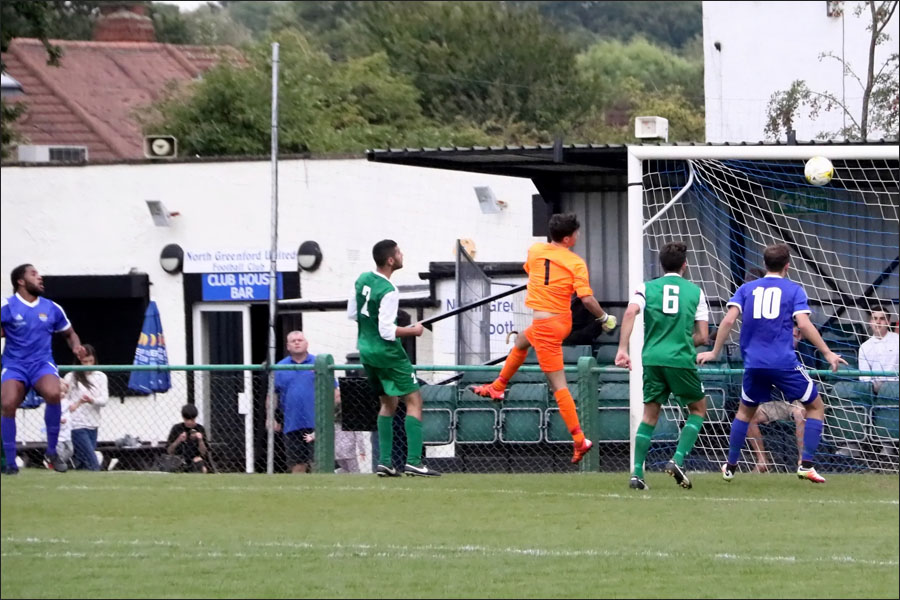 Greenford clatter the bar in the second half