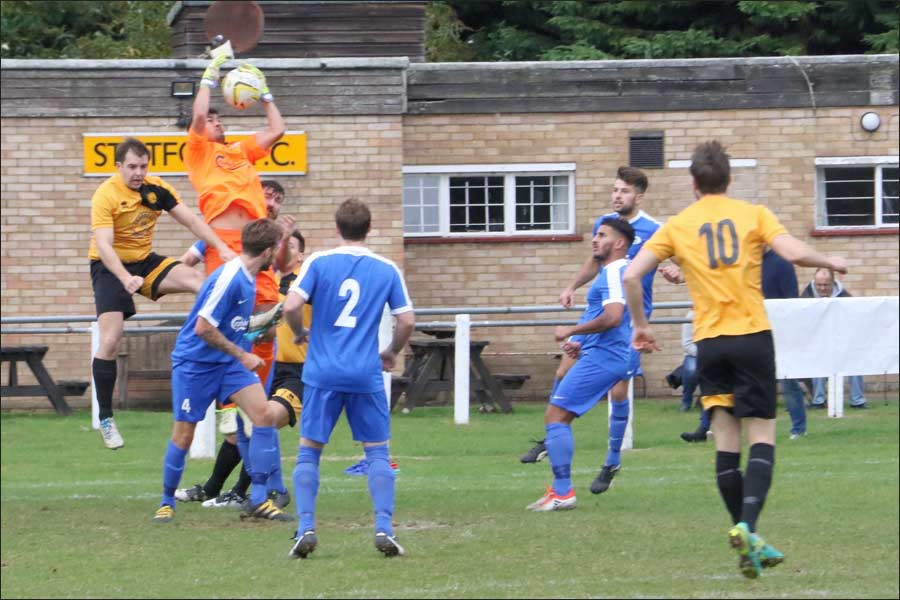 Rob Partington dealt with Stotfold's early pressure superbly