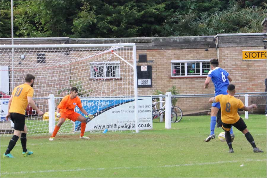 Jets relieved to see this great curler from Stotfold hit the post
