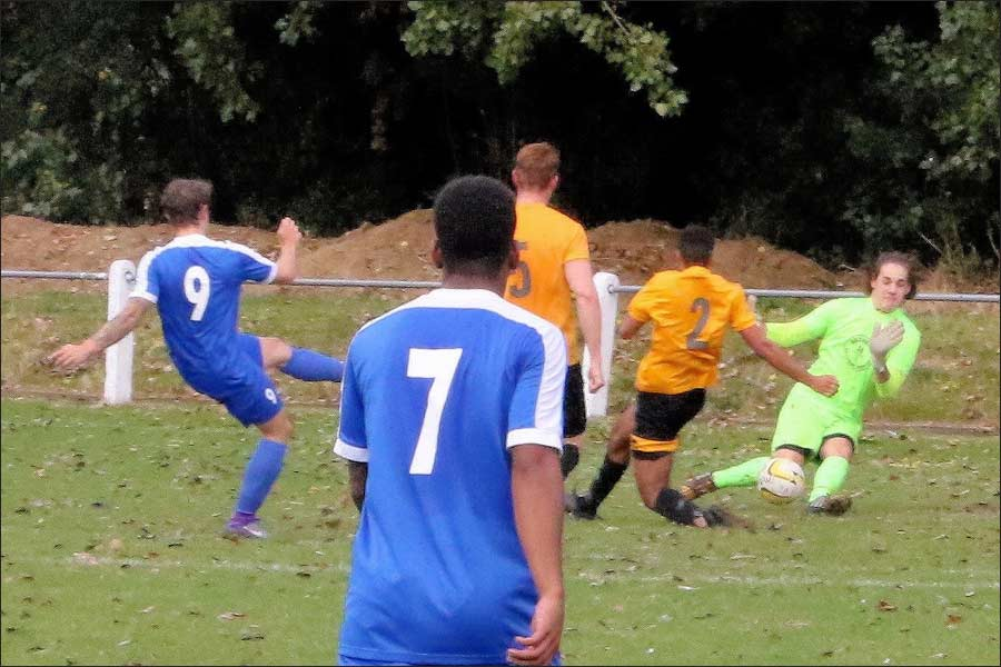 Brave Stotfold keeper denies Luke Wells