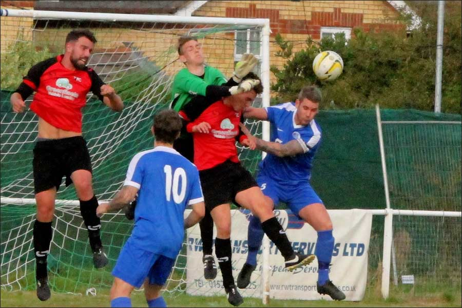 The Tring keeper had an excellent game