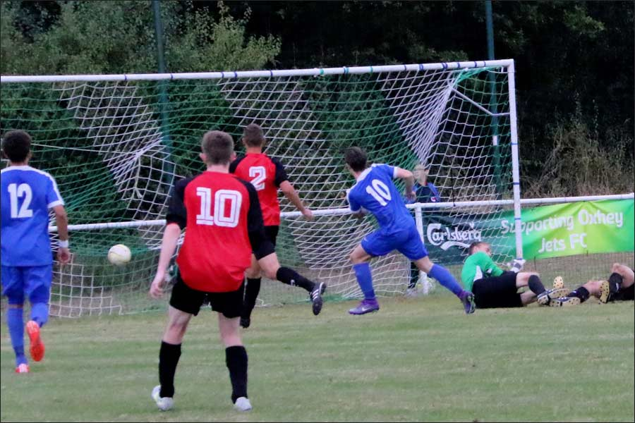 Luke Wells scores again, 2-3 and the match is set up for a frantic finish