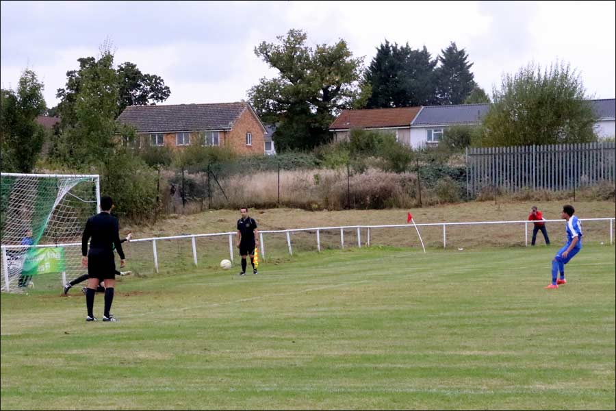 Martin Netzer takes the last minute penalty