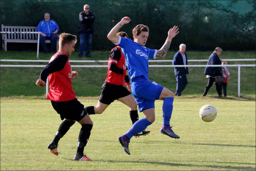 Luke Wells in the thick of the action again