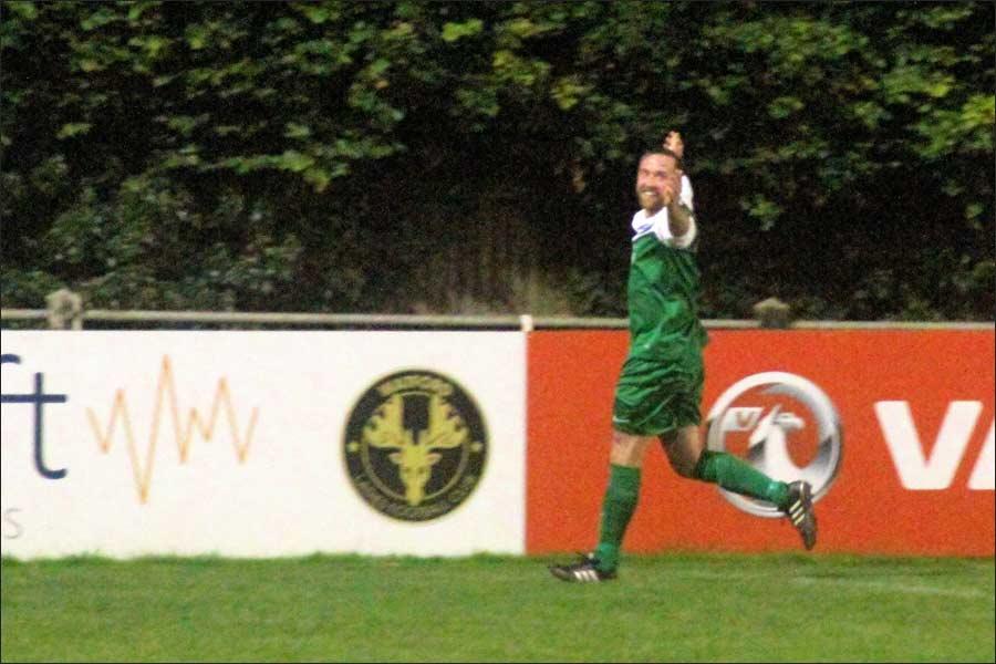 Luke Lloyd celebrates his decisive goal