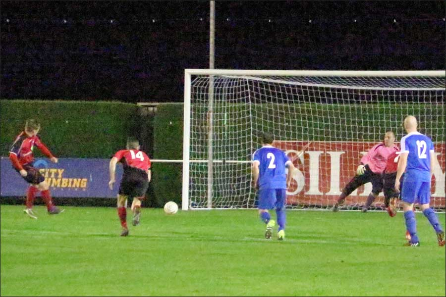 Stoppage time penalty makes it 5-0