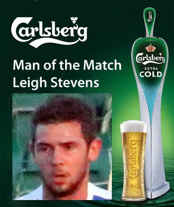 Jets Carlsberg Man of the Match Leigh Stevens