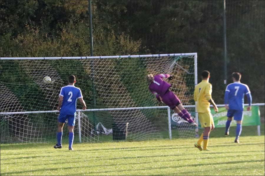 Broxbourne level with a 35-yard free-kick