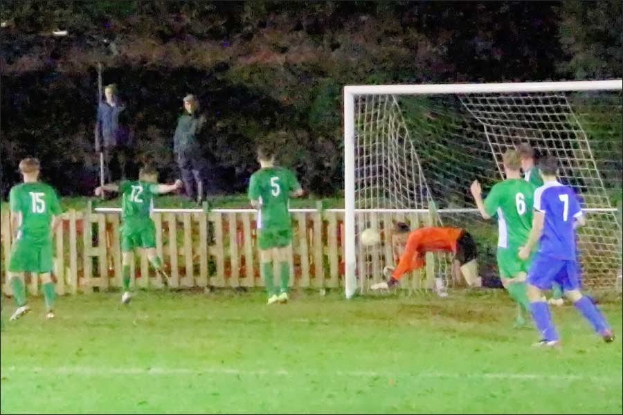 A tremendous save denies Nathan Pooley