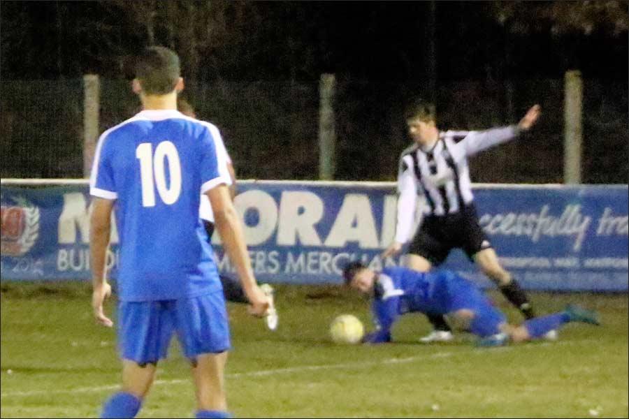 Ref gives handball against flattened Dan Taylor