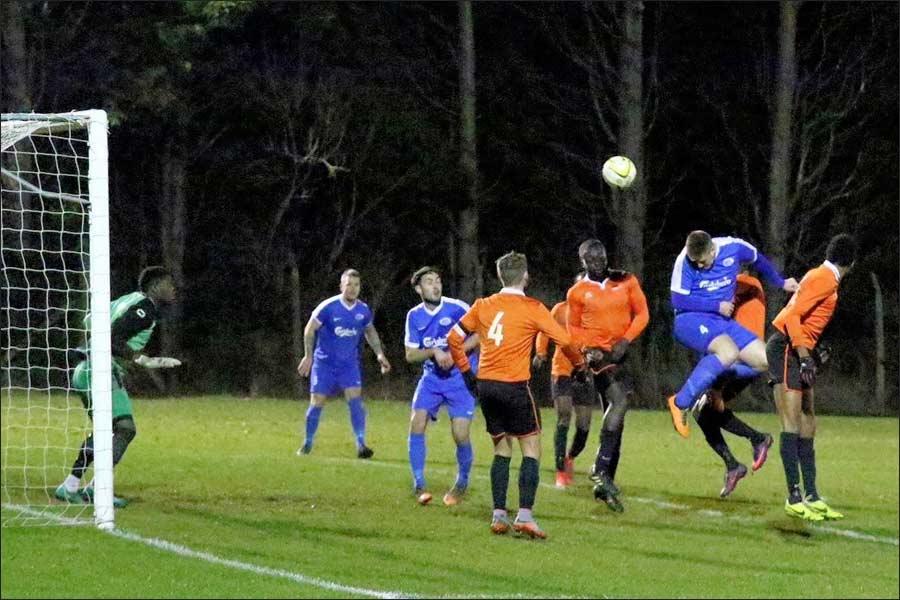 Big first half chance put wide by Liam James