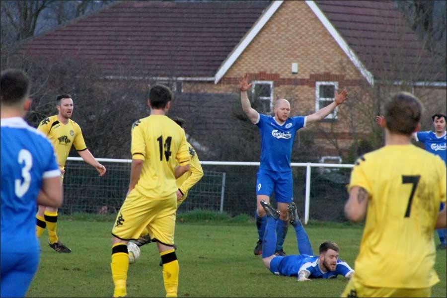 Beardo flattened for the penalty