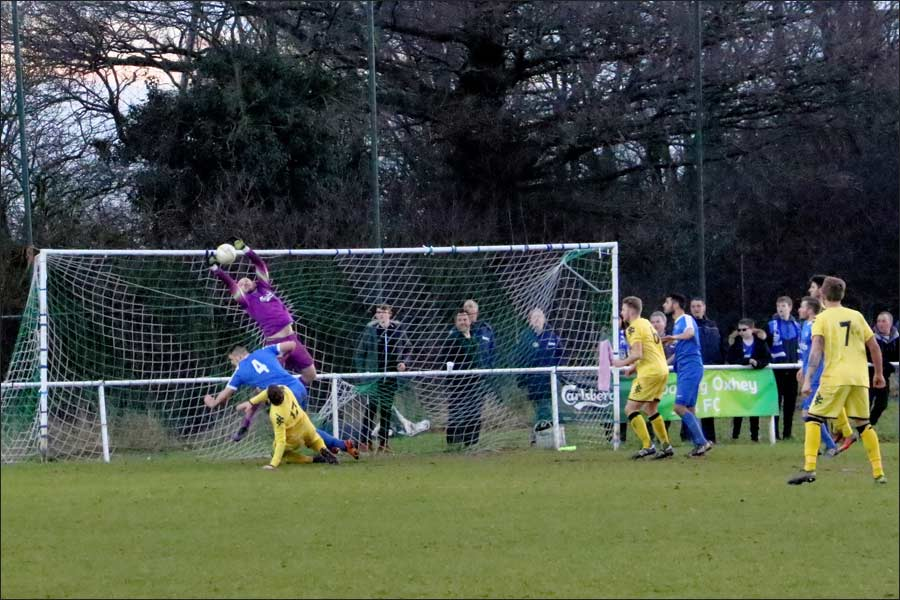 Excellent saves under pressure from Will Baker