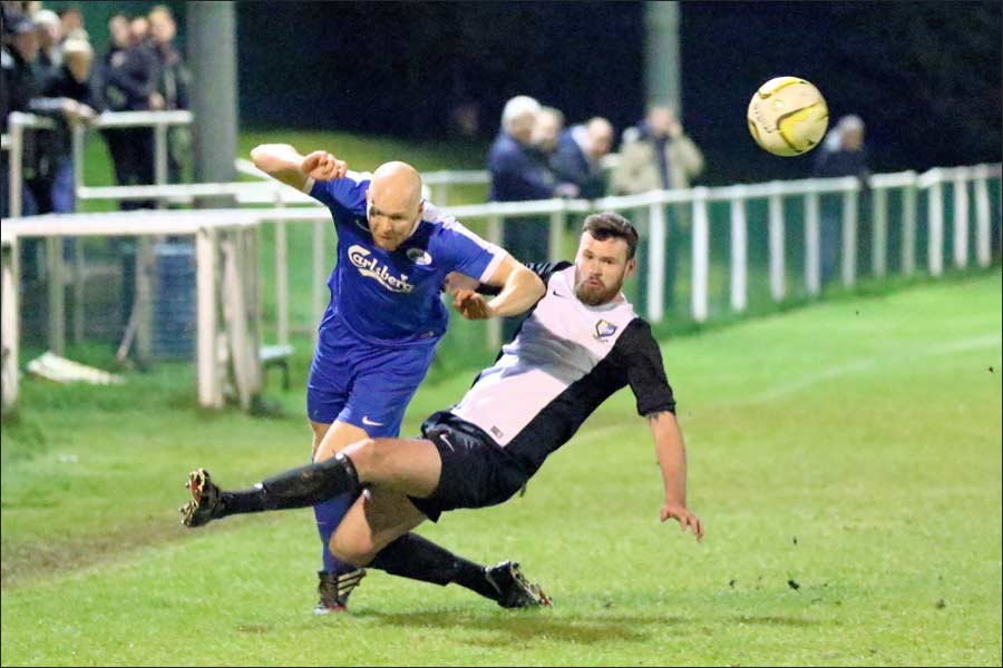 Dreadful tackle on Gary Warn with the ball long gone, but not even a word in the defenders ear from the official.