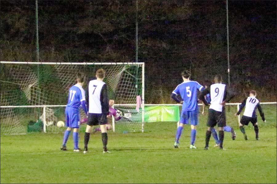 Mead scores his second from the penalty spot