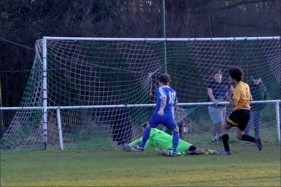 On form Luke Wells completes his hat-trick and wraps the game up at 5-1