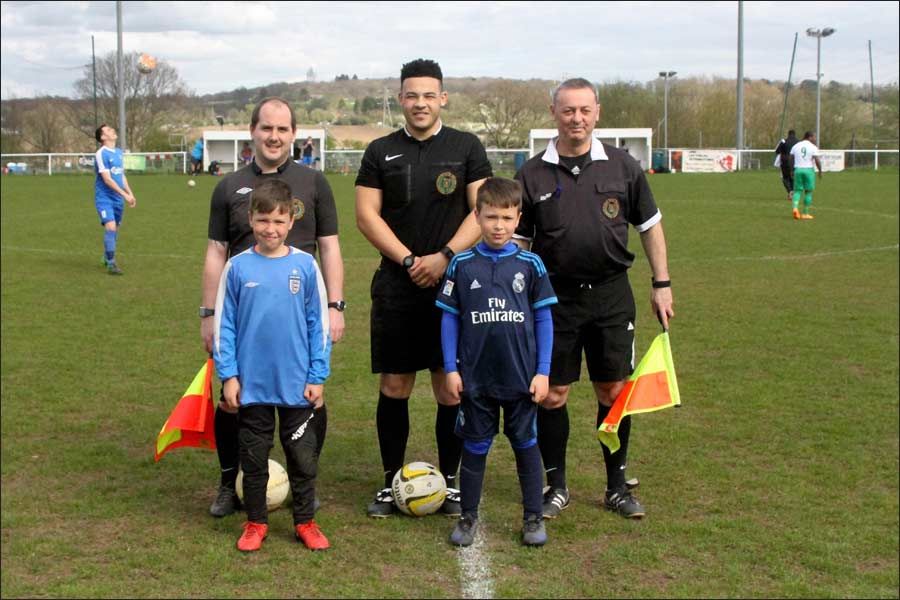 Match officials and mascots