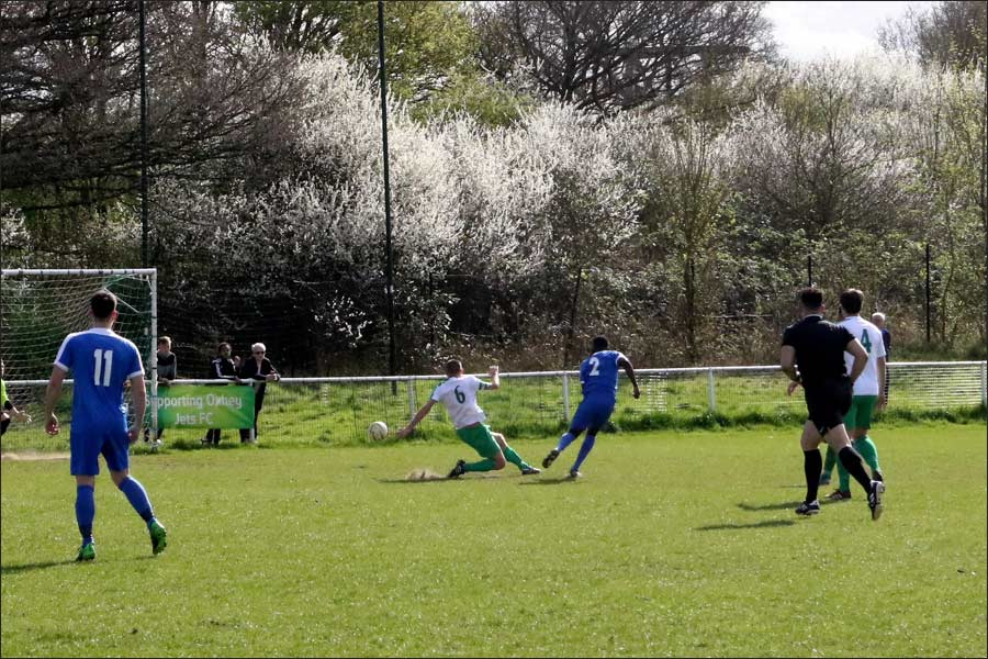Andy Amoah gets his shot on target