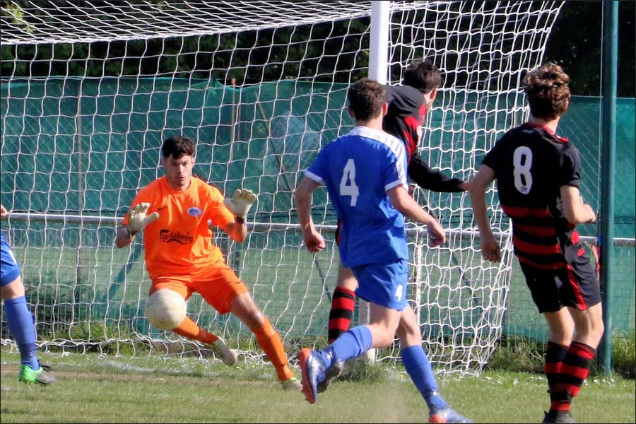 A well worked free-kick brings St Margaretsbury level