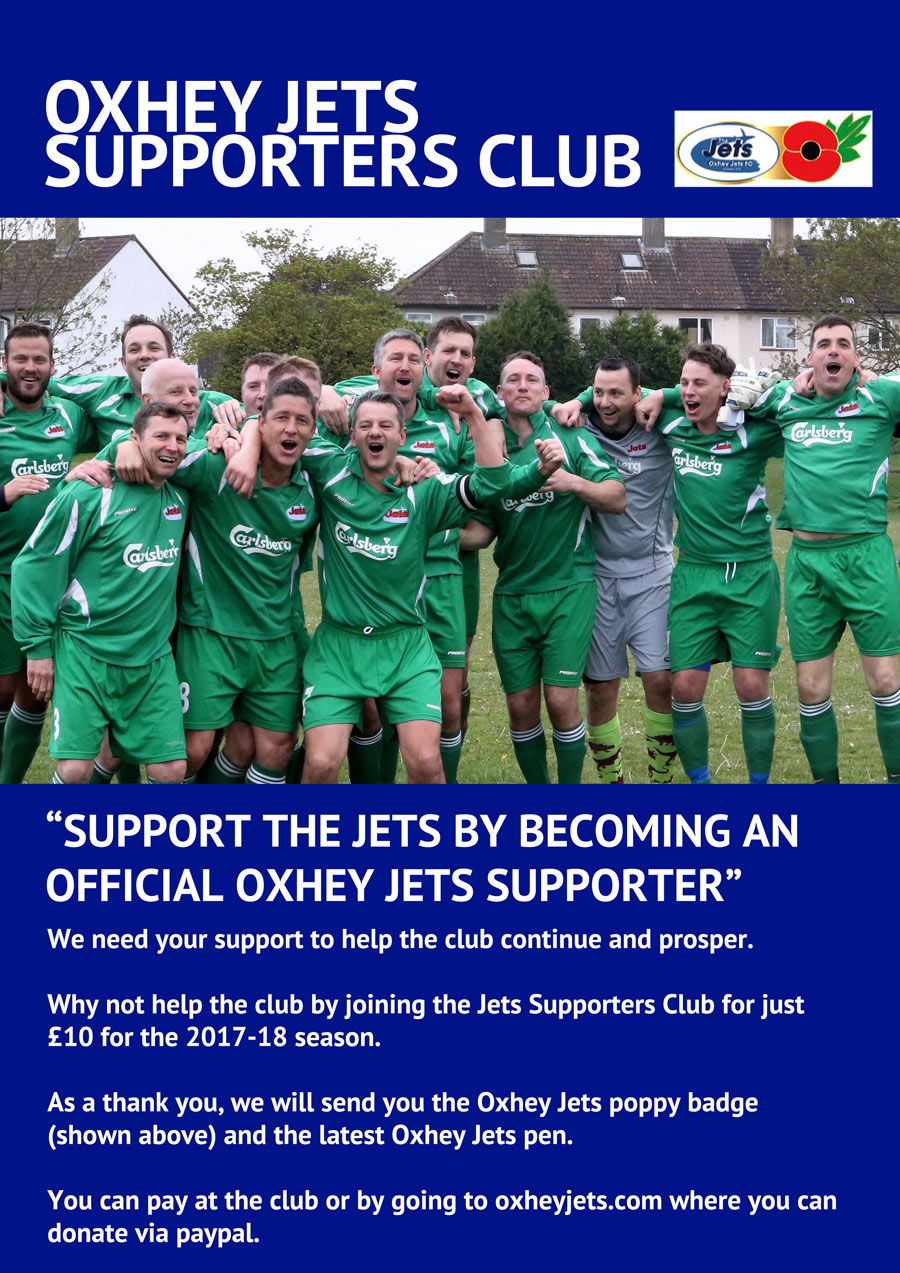 Oxhey Jets Supporters Club 2017-18
