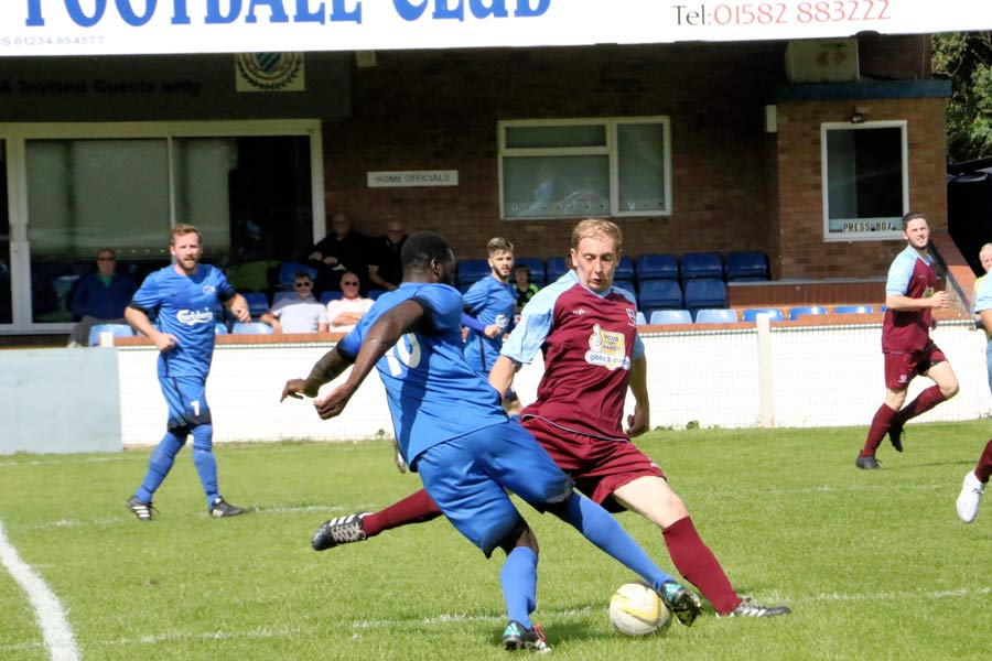 Andy Amoah - causing problems with his pace until his pulled  hami